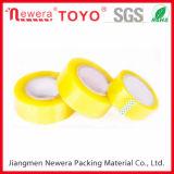 Cinta de empaquetado transparente amarillenta de BOPP para el lacre del rectángulo
