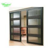 Изолированный алюминиевые раздвижные двери с отделкой из закаленного стекла