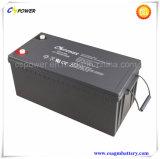 Batterie 12V300ah rechargeable/profondément de cycle de gel pour le système d'alimentation solaire Cg12-300