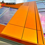 Ideabond materiales de construcción metálicos los paneles de pared exterior de aluminio PVDF