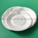 Bac papier remplaçable de pulpe de canne à sucre pour le dîner ou l'usager