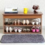旧式な居間の家具2つの層の木の靴のキャビネット(FS-S016)