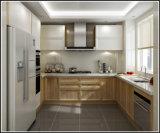 Welbom neue Form-kleine Küche-Schränke des Entwurfs-Birken-Holz-U