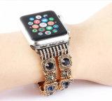 Bling 도매 우아한 호화스러운 모조 다이아몬드 여자를 위한 Iwatch를 위한 분리가능한 시계 팔찌