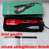 Straightener do cabelo do vapor do indicador do LCD