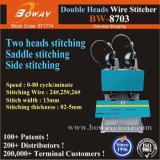 0-80 cycle/min livret électrique Carnet de notes des feuilles de papier Reliure latérale de l'agrafage piqûre à cheval sur le fil Stitcher