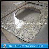 parti superiori bianche artificiali di vanità dei controsoffitti della stanza da bagno della pietra del quarzo