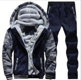 Шерсти Hooed Hoodies ватки людей толщиные греют фуфайки пальто куртки зимы