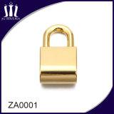 Blocage en alliage de zinc de sac de couleur d'or d'ornement de matériel de qualité pour le sac