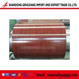 Motif de bobines d'acier de toiture en bois PPGI/PPGL