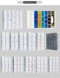 Donkerrode Houder Zes van de Kaart van de Naam van de Opening van de Lucht van het Metaal de Kast van het Kabinet van de Garderobe van de Gymnastiek van de School van het Staal van de Structuur van Kd van de Deur