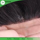 Armure européenne de cheveux humains de fermeture de lacet de Vierge en gros