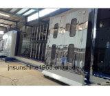 Máquina lisa de vidro vertical da imprensa da vitrificação dobro com máquina de lavar de vidro