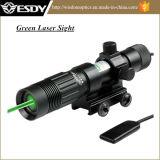 Lampe-torche réglable tactique de bloc d'éclairage d'indicateur de vue de chasse de laser de vert