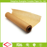 papel Unbleached do cozimento de 40cm x de 60cm nas folhas com o silicone tratado