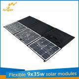 9*35W Sunpower Flexible Portable Zonnepaneel