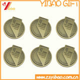 Изготовленный на заказ золото покрынное с медалями сувенира логоса Double-Sided печатание (YB-LY-C-29)