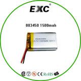 803450 batteria del polimero del litio di 3.7V 1500mAh per l'unità di Bluetooth