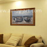 À la main de bateaux et navire de l'huile sur toile Peinture décoration pour la maison