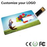 Disco de destello de la tarjeta de crédito delgado del USB