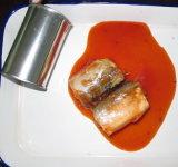 Cavala enlatada peixes no molho 155g do tomate