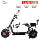 самокат Citycoco Harley большого колеса 60V 1500W электрический с легким отделяемым блоком батарей
