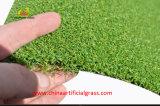 Grama verde artificial artificial e exterior para golfe