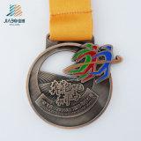 熱いオリンピック重量挙げの鋳造のリボンが付いているカスタム金メダル