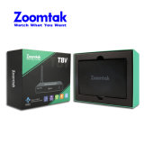 Nova chegada Amlogic Zoomtak T8V S905 Caixa de TV do Google de firmware