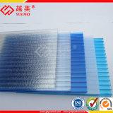 Panneaux en cristal de toiture de serre chaude de polycarbonate de Vierge de feuille creuse claire matérielle de toiture