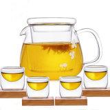 Het hete Verkopen in de Europese die Pot van het Glas met de Ketel van de Thee van de Pot van de Thee van de Pot van het Sap Infuser wordt geplaatst