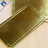 Feuille grise de panneau de gâteau de carton de carton d'or