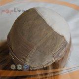 Médicos transpirable en la parte superior delantera de seda de encaje peluca (PPG-L-01724)
