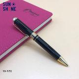 Gros gros baril noir Stylo en métal plaqué Or stylo à bille d'affaires