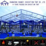 大きい屋外の耐久の玄関ひさし展覧会の大きいガラス壁のテント