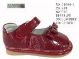 Ботинки способа девушок PU красного цвета