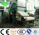 Carta igienica 1092 che fa macchina dalle materie prime carta straccia, scheda della polpa, legno, cotone, paglia del frumento, bagassa