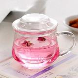 tazza di tè di vetro di Borosilicate della chiavetta di vetro bevente 10oz con Infuser