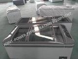 Congelatore profondo mobile di vetro superiore della cassa del portello scorrevole
