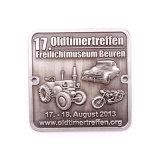 Kundenspezifische antike silberne Metallflaschen-Öffner-Schlüsselring-Metallform-Förderung