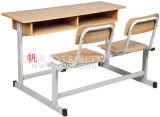 Sf 08d 학교 공급자 학생 교실 가구를 위한 나무로 되는 2인승 책상 테이블