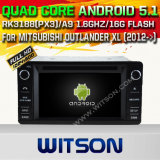 Carro DVD GPS do Android 5.1 de Witson para o Outlander XL de Mitsubishi (2012->) com sustentação do Internet DVR da ROM WiFi 3G do chipset 1080P 16g (A5557)