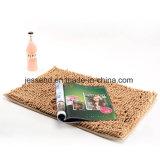Llanura de chenilla suave alfombra con color sólido