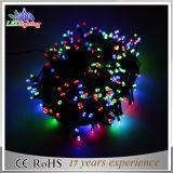 Luz ao ar livre da corda do Natal da decoração do diodo emissor de luz do PVC do feriado