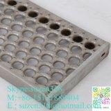 Chapa perforada de aluminio Perf agarre O Grip de seguridad rejilla soporte suelo