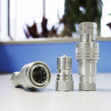 Rápidos industriales conectan acopladores hidráulicos con la bola de la válvula de válvula de disco con movimiento vertical que bloquea el acoplador