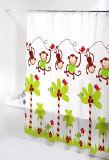 El mono PEVA del cartón impermeabiliza la cortina de ducha para el cuarto de baño