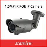 IP van het Netwerk van de Veiligheid van kabeltelevisie van de Kogel van het toezicht 1.0MP IRL Waterdichte Camera
