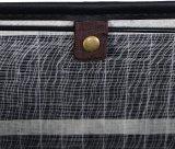 Servicio de lavandería de bambú de plegado doble canasto impiden
