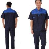 Modificar el uniforme de trabajo del ingeniero para requisitos particulares corto de la funda de los juegos del trabajador de construcción del algodón del Workwear (1)